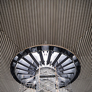 MEXICO CITY, MEXICO--The underside of the large umbrella that covers part of the central courtyard of the National Museum of Anthrolopology in Mexico City. The National Museum of Anthropology showcases  significant archaeological and anthropological artifacts from the Mexico's pre-Columbian heritage, including its Aztec and indiginous cultures.
