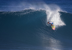 December 8, 2017 - Banzai Pipeline, HI, USA - BANZAI PIPELINE, HI - DECEMBER 8, 2017 - Michael Ho competes in the World Surf League Men's Pipe Invitational at Backdoor Pipeline  Friday to qualify for the upcoming Billabong Pipe Masters. (Credit Image: © Erich Schlegel via ZUMA Wire)