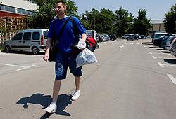 Uros Slokar of Slovenia Basketball national team at departure to Rogla before World Championship in Turkey, on July 10, 2010 at KZS, Ljubljana, Slovenia. (Photo by Vid Ponikvar / Sportida)