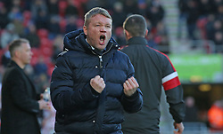 Doncaster Rovers manager Grant McCann celebrates after his side scored their second goal - Mandatory by-line: Joe Dent/JMP - 09/02/2019 - FOOTBALL - The Keepmoat Stadium - Doncaster, England - Doncaster Rovers v Peterborough United - Sky Bet League One