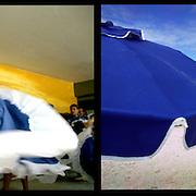 DAILY VENEZUELA II / VENEZUELA COTIDIANA II<br /> Photography by Aaron Sosa <br /> <br /> Left: Cultural Events, Caracas - Venezuela 2005 / Acto Cultural, Caracas - Venezuela 2005<br /> <br /> Right: Archipelago of Los Roques - Venezuela 2005 / Archipielago de Los Roques - Venezuela 2005<br /> <br /> (Copyright © Aaron Sosa)