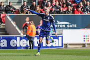 Cardiff City striker, Lex Immers (27) scores for his team 1-0 during the Sky Bet Championship match between Bristol City and Cardiff City at Ashton Gate, Bristol, England on 5 March 2016. Photo by Shane Healey.