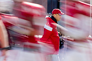 Nebraska head coach Mike Riley watches spring football practice at the University of Nebraska on April 3, 2016. Photo by Aaron Babcock, Hail Varsity