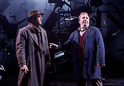 As You Like It <br /> by William Shakespeare<br /> at The Olivier Theatre, London, Great Britain <br /> press photocall<br /> 30th October 2015 <br /> <br /> <br /> John Ramm as Duke Senior <br /> Paul Chahidi as Jaques (right)<br /> <br /> Photograph by Elliott Franks <br /> Image licensed to Elliott Franks Photography Services