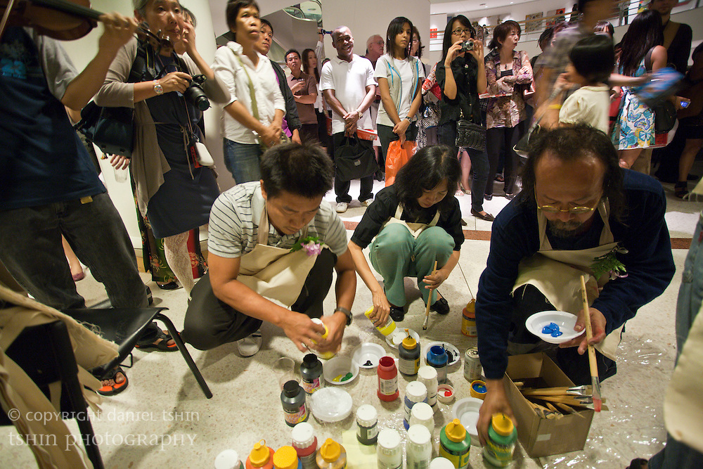 Opening event of the exhibit celebrating 20 years of Akko Gallery, held at the Bangkok Art and Culture Centre, Bangkok, Thailand