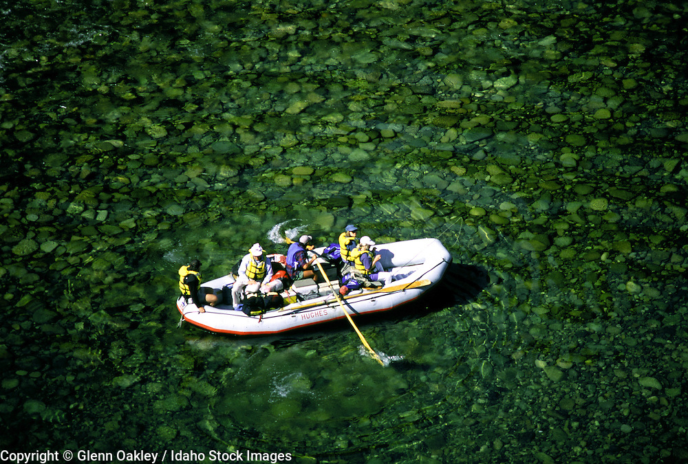 Overhead view, raft, Middle Fork Salmon, Frank Church Wilderness,  Idaho. MR