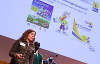 UTRECHT - Mascha van der Vaart , goede doelen binnen KNHB, methet Jeugdsportfonds.  Hockeycongres bij de Rabobank in Utrecht. FOTO KOEN SUYK