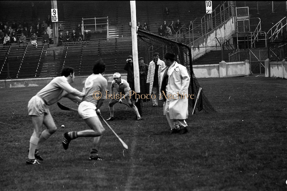 13/09/1970<br /> 09/13/1970<br /> 13 September 1970<br /> All-Ireland Intermediate Semi-Final: Dublin v Antrim at Croke Park, Dublin.<br /> Dublin goalkeeper, P. Cunningham (right) saves as P. McShane (left) comes in and B. McGarry is upended by V. Flood.
