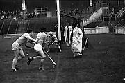 13/09/1970<br /> 09/13/1970<br /> 13 September 1970<br /> All-Ireland Intermediate Semi-Final: Dublin v Antrim at Croke Park, Dublin.<br /> Dublin goalkeeper, P. Cunningham (right) saves as P. McShane (left) comes in and B. McGarry is upended by V. Flood.