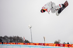PYEONGCHANG-GUN, SOUTH KOREA - FEBRUARY 14: Shaun White of the United States competes during the Men's Halfpipe Final at Phoenix Snow Park on February 14, 2018 in Pyeongchang-gun, South Korea.  Photo by Ronald Hoogendoorn / Sportida