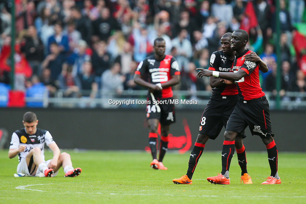Joie Cheik MBENGUE / Abdoualye DOUCOURE - 12.04.2015 - Rennes / Guingamp - 32eme journee de Ligue 1 <br /> Photo : Vincent Michel / Icon Sport