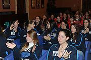 DESCRIZIONE : Roma Salone D Onore del Coni Nazionale Under 18 Femminile Presentazione Libro &quot;Ragazze d'Oro&quot;, &quot;Minibasket, l'emozione, la scoperta, il gioco&quot; e &quot;Mamma, giurami che qui non c'&egrave; il terremoto&quot;<br /> GIOCATORE : Nazionale Under 18 Femminile <br /> SQUADRA : <br /> EVENTO :  Nazionale Under 18 Femminile Presentazione Libro &quot;Ragazze d'Oro&quot;, &quot;Minibasket, l&Otilde;emozione, la scoperta, il gioco&quot; e &quot;Mamma, giurami che qui non c&Otilde; il terremoto&quot;<br /> GARA : <br /> DATA : 20/12/2010<br /> CATEGORIA : Presentazione Conferenza Stampa Ritratto<br /> SPORT : Pallacanestro <br /> AUTORE : Agenzia Ciamillo-Castoria/GiulioCiamillo<br /> Galleria : Lega Basket A 2010-2011 <br /> Fotonotizia : Roma Salone D Onore del Coni Nazionale Under 18 Femminile Presentazione Libro &quot;Ragazze d'Oro&quot;, &quot;Minibasket, l&Otilde;emozione, la scoperta, il gioco&quot; e &quot;Mamma, giurami che qui non c&Otilde; il terremoto&quot;<br /> Predefinita :