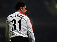 Photo: Daniel Hambury.<br />West Ham United v Fulham. The Barclays Premiership. 23/01/2006.<br />Fulham's on loan full back, Wayne Bridge.