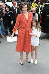 File photo of Milla Jovovich and her daughter Ever Gabo Anderson attending Chanel Haute Couture Fall/Winter 2016-2017 show as part of Paris Fashion Week on July 5, 2016 in Paris, France. Actress Milla Jovovich has revealed she is pregnant again for a third time, after suffering a loss during her last pregnancy 'due to her age'. Photo by Jerome Domine/ABACAPRESS.COM
