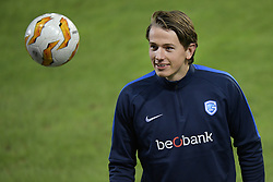 November 28, 2018 - Malmo, SWEDEN - Genk's Sander Berge pictured during the training session of Belgian soccer team KRC Genk in Malmo, Sweden, Wednesday 28 November 2018. Genk will meet Swedish club Malmo on the fifth day of the UEFA Europa League group stage, in group I. BELGA PHOTO YORICK JANSENS (Credit Image: © Yorick Jansens/Belga via ZUMA Press)