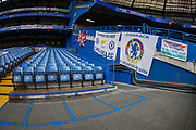 A general view inside Stamford Bridge Stadium during the Premier League match between Chelsea and Fulham at Stamford Bridge, London, England on 2 December 2018. Photo by Toyin Oshodi