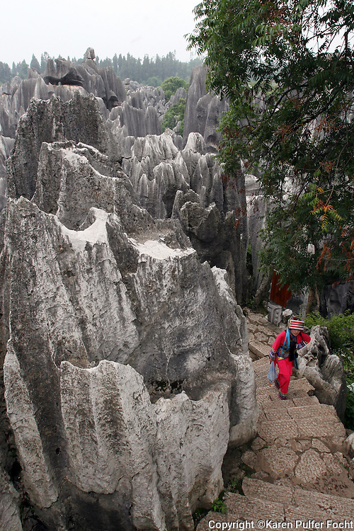 The Stone Forest or Shilin is a notable set of limestone formations located in Shilin Yi Autonomous County, Yunnan Province, People's Republic of China, near Shilin approximately 120 km from the provincial capital Kunming.