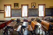 Kansas / Chase County / Tallgrass Prairie National Preserve / Flint Hills / Lower Fox Creek Schoolhouse / <br /> One Room Schoolhouse / Built In 1882