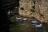 Inner tube float adventure, Ausable Chasm, New York