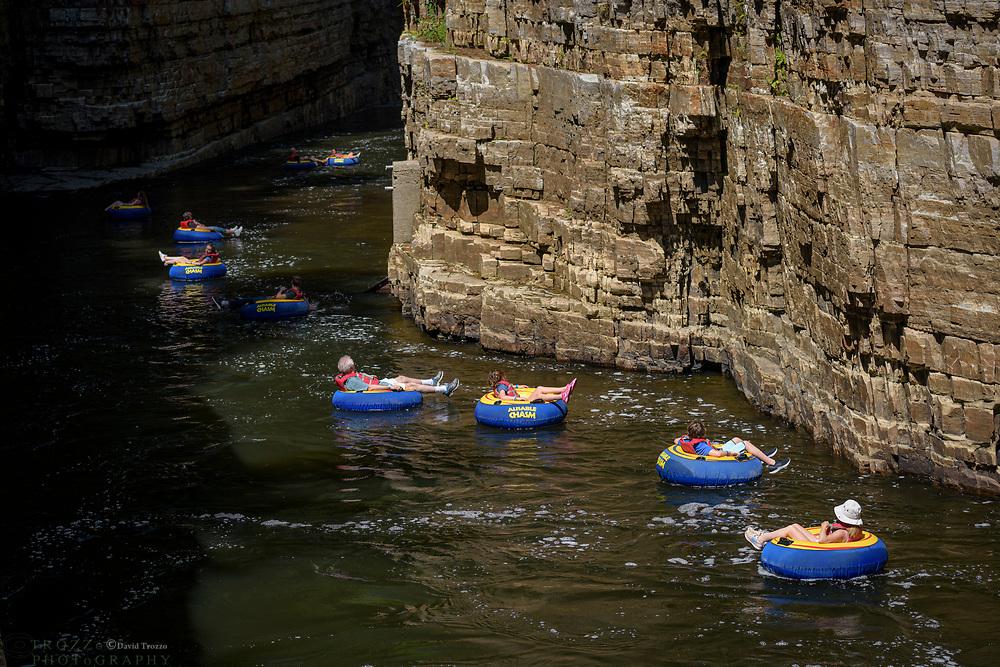 Inner tube float adventure, Ausable Chasm, New York