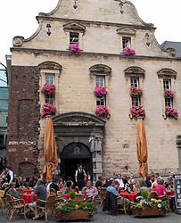 Busy Amadeus cafe in Maastricht , Limburg, The Netherlands