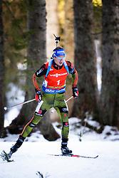 Winner Simon Schempp (GER) competes during Men 12,5 km Pursuit at day 3 of IBU Biathlon World Cup 2015/16 Pokljuka, on December 19, 2015 in Rudno polje, Pokljuka, Slovenia. Photo by Ziga Zupan / Sportida