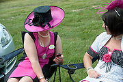 JUDITH KNAPMAN, Royal Ascot. Tuesday. 14 June 2011. <br /> <br />  , -DO NOT ARCHIVE-© Copyright Photograph by Dafydd Jones. 248 Clapham Rd. London SW9 0PZ. Tel 0207 820 0771. www.dafjones.com.