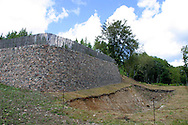 Ramparts at the Gaulish town of Bibracte, capital of the Aedui, on Mount Beuvray in the Morvan National Park...