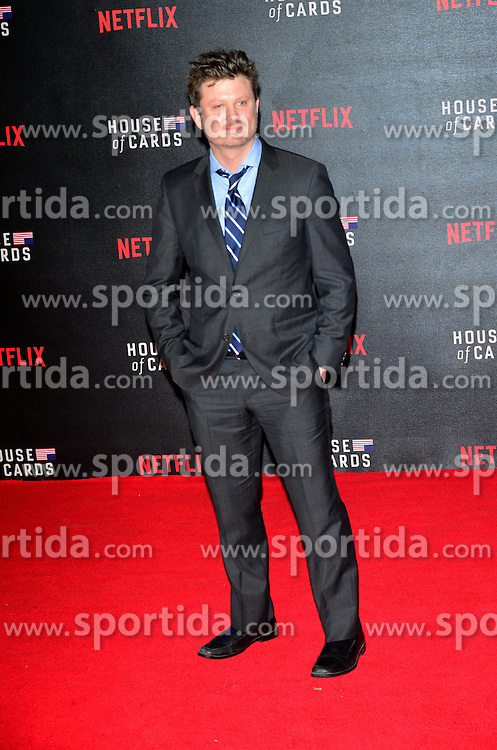 Beau Willimon at the House Of Cards - UK TV premiere at The Empire Leicester Square in London. 26th February 2015. EXPA Pictures &copy; 2015, PhotoCredit: EXPA/ Photoshot/ Brian Jordan<br /> <br /> *****ATTENTION - for AUT, SLO, CRO, SRB, BIH, MAZ only*****