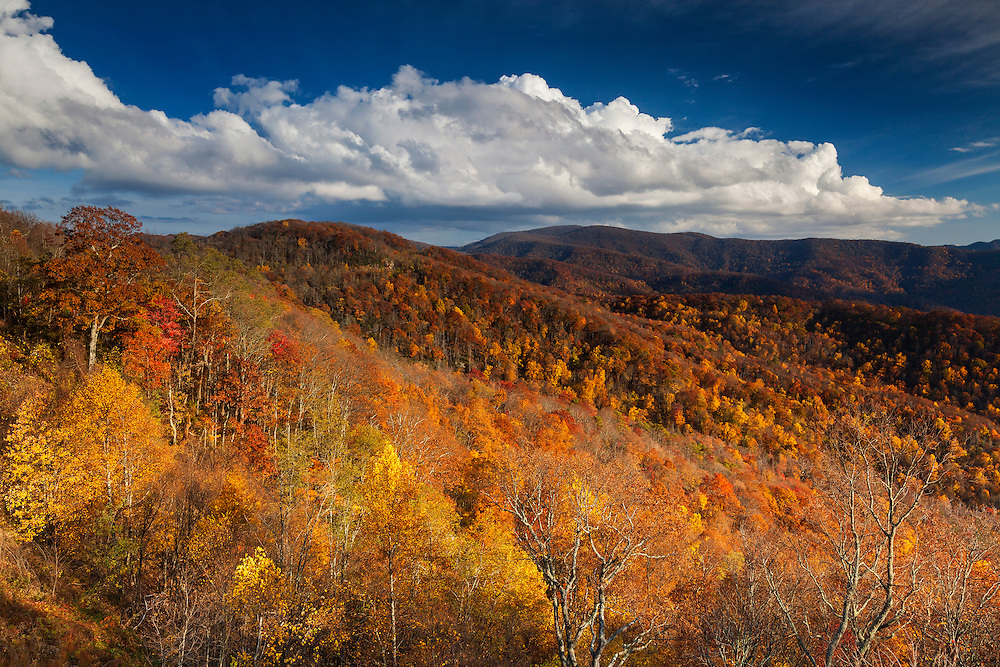 Cherohala Skyway - Fall Color - Great Smoky Mountains