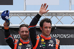 May 20, 2018 - Matosinhos, Matosinhos, Portugal - THIERRY NEUVILLE (BEL) and NICOLAS GILSOUL (BEL) in HYUNDAI I20 COUPE WRC of HYUNDAI SHELL MOBIS WRT winner of the rally during the SS20 Fafe 2 (Power Stage) of WRC Vodafone Rally de Portugal 2018, at Matosinhos in Portugal on May 20, 2018. (Credit Image: © Dpi/NurPhoto via ZUMA Press)