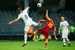Jasmin Kurtic of Slovenia vs Vladimir Jovovic of Montenegro during friendly football match between National Teams of Montenegro and Slovenia, on June 2, 2018 in Stadium Pod goricom, Podgorica, Montenegro. Photo by Vid Ponikvar / Sportida