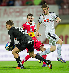 25.05.2016, Franz Fekete Stadion, Kapfenberg, AUT, 2. FBL, KSV 1919 vs SV Austria Salzburg, 36. Runde, im Bild v.l.: Hidajet Hankic (SV Austria Salzburg), Florian Flecker (KSV 1919), Simon Sommer (SV Austria Salzburg) // during the Austrian Erste Liga Match, 36th Round, between KSV 1919 and SV Austria Salzburg at the Franz Fekete Stadium, Kapfenberg, Austria on 2016/05/25, EXPA Pictures © 2016, PhotoCredit: EXPA/ Dominik Angerer