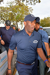 November 1, 2018 - Miami Gardens, Florida, U.S. - Florida Democratic gubernatorial nominee ANDREW GILLUM stumps for votes in Miami Gardens, Florida. Gillum, the mayor of Tallahassee, is facing off in a close election against Republican candidate R. DeSantis. (Credit Image: © SMG via ZUMA Wire)