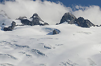 North face of Mount Challenger with crevassed Challenger Glacier, North Cascades National Park