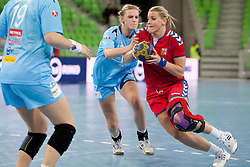 Barbara Varlec Lazovic during handball match between Women National Teams of Slovenia and Czech Republic of 4th Round of EURO 2012 Qualifications, on March 25, 2012, in Arena Stozice, Ljubljana, Slovenia. (Photo by Urban Urbanc / Sportida.com)