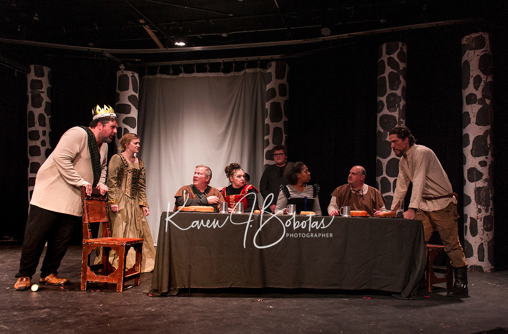 Macbeth dress rehearsal with Streetcar Company Theater at Laconia High School.  Karen Bobotas for the Laconia Daily Sun