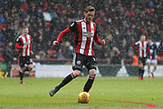 John Lundstram of Sheffield United (7) during the EFL Sky Bet Championship match between Sheffield United and Nottingham Forest at Bramall Lane, Sheffield, England on 17 March 2018. Picture by Mick Haynes.