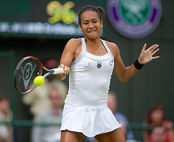 LONDON, ENGLAND - Friday, June 29, 2012: Heather Watson (GBR) during the Ladies' Singles 3rd Round match on day five of the Wimbledon Lawn Tennis Championships at the All England Lawn Tennis and Croquet Club. (Pic by David Rawcliffe/Propaganda)
