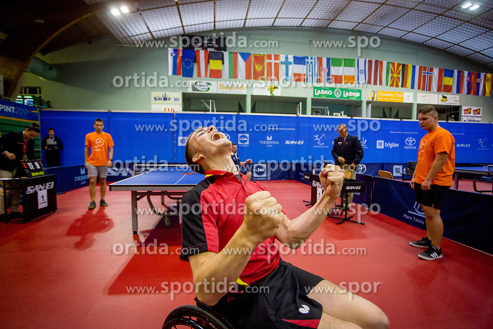 SCHMIDBERGER Thomas during day 3 of 15th EPINT tournament - European Table Tennis Championships for the Disabled 2017, at Arena Tri Lilije, Lasko, Slovenia, on September 30, 2017. Photo by Ziga Zupan / Sportida