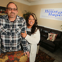 Nick Coyle and Amy Shook run the year old God's House of Hope recovery facility in Nettleton.
