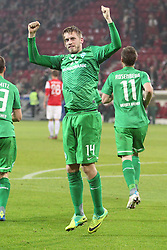 29.10.2011, Coface Arena, Mainz, GER, 1.FBL, Mainz 05 vs Werder Bremen, im Bild.Torjubel / Jubel  Aaron Hunt (Bremen #14) nach dem 1:2..// during the 1.FBL, Mainz 05 vs SV Werder Bremen on 2011/10/29, Coface Arena, Mainz, Germany. Foto © nph / Mueller