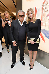 GIUSEPPE ZANOTTI and DONNA AIR at the launch of the new Giusepe Zanotti store in Conduit Street, London on 26th October 2016.