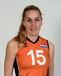 13-05-2014 NED: Selectie Nederlands volleybal team mannen, Arnhem<br /> Op Papendal werd het Nederlands team volleybal seizoen 2014-2015 gepresenteerd / Laury Donker