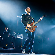 Chris Wolstenholme of Muse performs at Live 105's Not So Silent Night at Oracle Arena in Oakland California USA on December 11 2009. Image available for editorial licensing only.