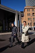 Salarymen walking to work in Marunouchi area of Tokyo