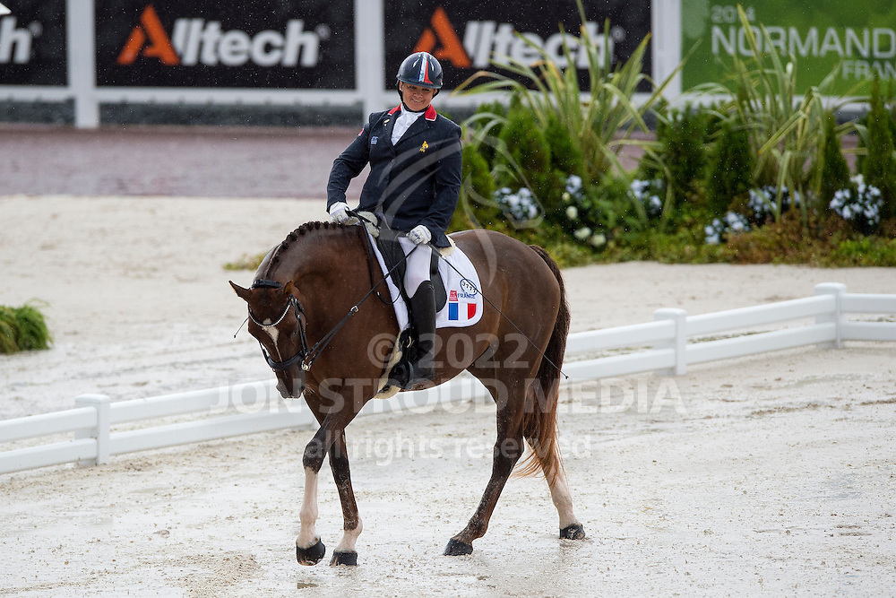 Valerie Salles, (FRA), Diamond du Loing - Team Competition Grade Ib Para Dressage - Alltech FEI World Equestrian Games&trade; 2014 - Normandy, France.<br /> &copy; Hippo Foto Team - Jon Stroud <br /> 25/06/14