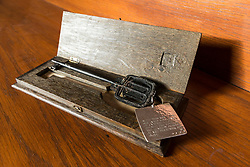 Lyon & Turnbull are auctioning the key used to open the Glasgow School of Art in 1899. The key, which will be sold on April 11, has not been seen in public since the school's opening ceremony.<br /> <br /> Pictured: Glasgow School of Art key