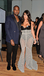 KIM KARDASHIAN and KANYE WEST at the GQ Men Of The Year 2014 Awards in association with Hugo Boss held at The Royal Opera House, London on 2nd September 2014.