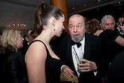 REBECCA HALL; SIR PETER HALL, 56th London Evening Standard Theatre Awards. Savoy Hotel. London. 28 November 2010.  -DO NOT ARCHIVE-© Copyright Photograph by Dafydd Jones. 248 Clapham Rd. London SW9 0PZ. Tel 0207 820 0771. www.dafjones.com.